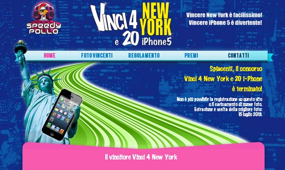 Vincitori del Contest Vinci New York e 20 iPhone5 - 2013