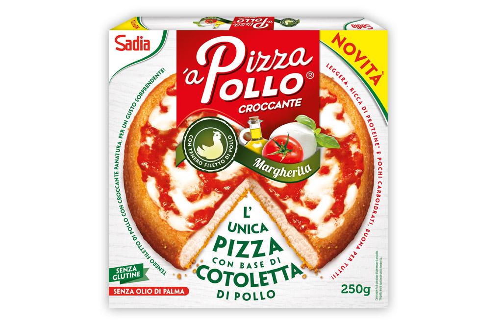 'aPizzaPollo Croccante, gluten free, gusto margherita
