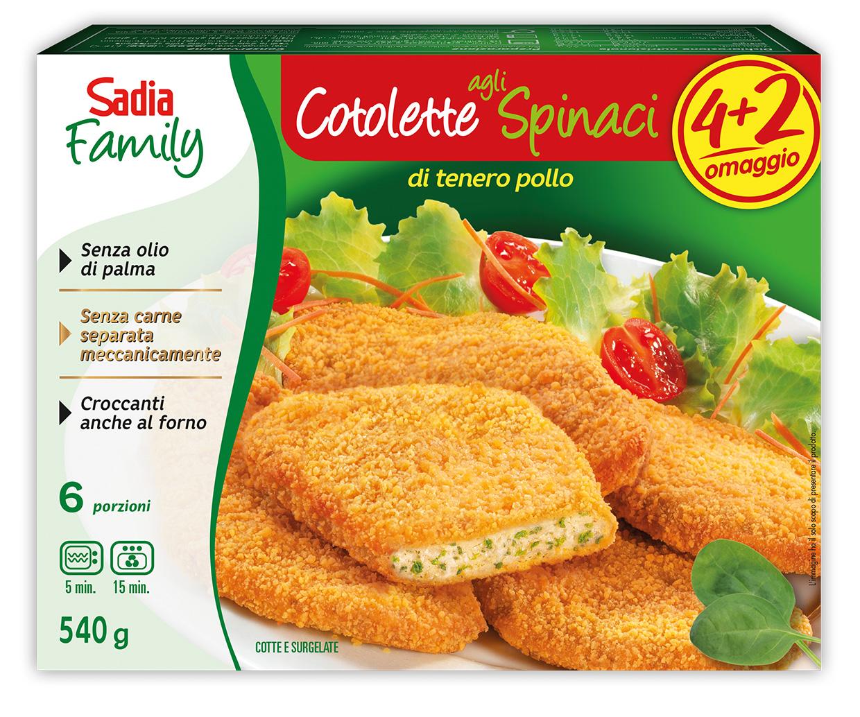 Cotolette agli Spinaci - Linea Family