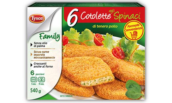 6 Cotolette agli Spinaci - Family